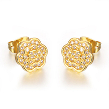 Delicate Camellia Stud Classical Women Earrings YCE2243