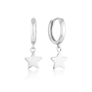 Women Jewelry Silver and brass Star Shape Hoop Earrings YCE2587