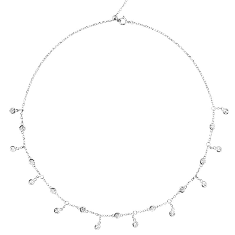 925 Silver Choker Necklace For Christmas Jewelry Gift YCN227