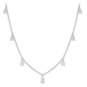 Droplet Newest White Gold Sterling Silver Women Necklace YCN6765